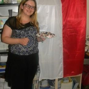 Barbara con uno dei dolci tipici polacchi, fatti con le sue mani!!!!