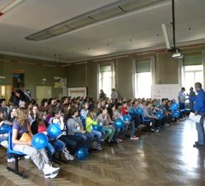 Festeggiamenti con alcune classi della scuola Campi Elisi di Trieste - 9.05.11