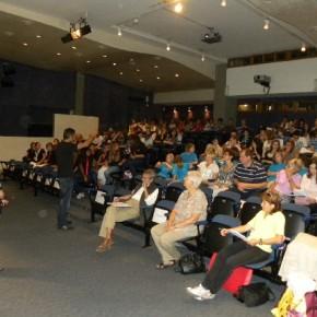 L'auditorium del museo Revoltalla...praticamente pieno!