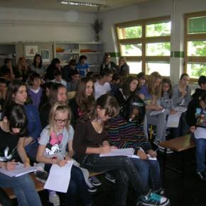 lezione europea alla scuola media Codermaz - 14.04.11