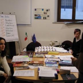 Trieste 2003: incontro con i giovani della rgione ed i coetanei sloveni di Velenje
