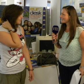 Interviste televisive prima della partenza
