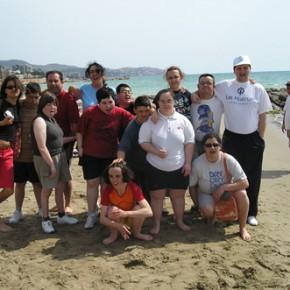 Vacanza al mare con i miei ragazzi. Sulla spiaggia di Benicasim.