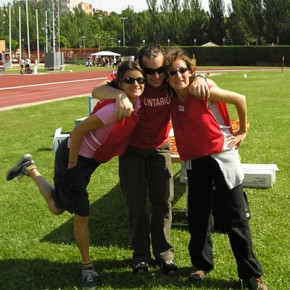 Sul campo di atletica per i campionati sportivi dei diversamente abili.