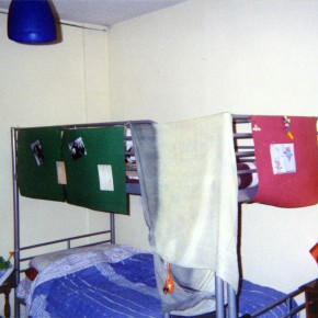 Il letto a castello nella mia stanza divisa con l'amica francese Cloty.