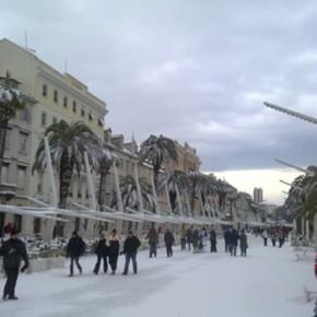 Split durante l' inverno