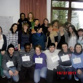 Ed ecco qui il gruppo dei volontari europei!!!!!!