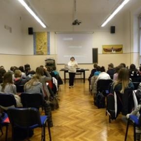 29.1.15 - lezione presso la scuola media Divisione Julia
