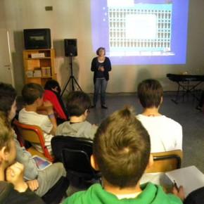 6.5.15 Prima lezione europea presso la scuola media Tommasini di Trieste