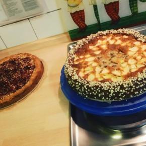 Äpfel-Bananen Torte mit chockolade