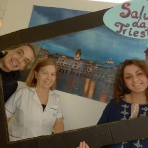 Saluti da Trieste insieme a due terapeuti dell'APCC
