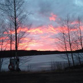 Il magnifico tramonto finlandese