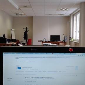 L'ufficio dove lavora Federico