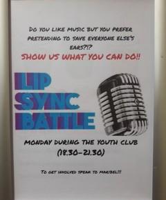 Poster per cercare partecipanti per il Lip Sync