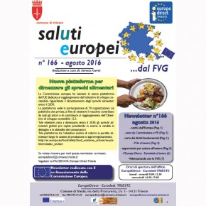 """Newsletter """"SalUtiEuropei"""" n°166 - agosto 2016"""