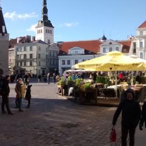 La piazza principale di Tallinn Old Town