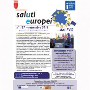 """Newsletter """"SalUti Europei"""" n° 167 del mese di settembre"""