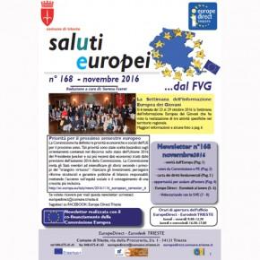 """Newsletter """"SalUtiEuropei"""" n° 168 - novembre 2016"""