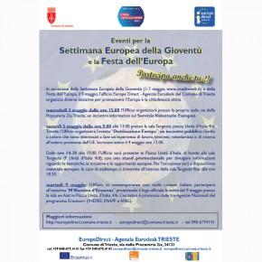 Eventi organizzati in occasione della Settimana Europea della Gioventù e della Festa dell'Europa