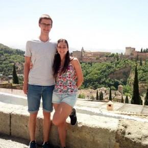 Io e il mio amico/volontario europeo Harri dell'Estonia in giro per l'Albaycin