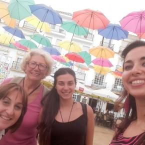 Con Zdenka, volontaria di spagnolo