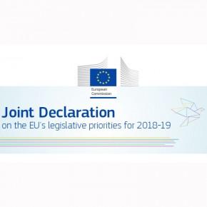 Firmata la Dichiarazione congiunta sulle priorità UE 2018-19