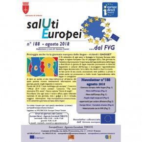 """Newsletter """"SalUti Europei"""" n° 188 - agosto 2018"""