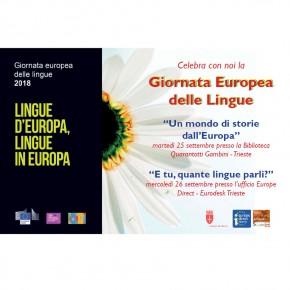 Giornata Europea delle lingue, festeggia con noi