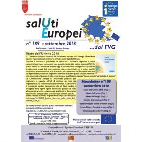 "Newsletter ""SalUti Europei"" n° 189 – settembre 2018"