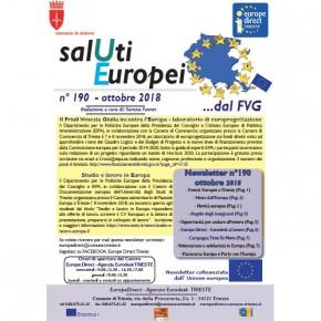 """Newsletter """"SalUti Europei"""" n° 190 – ottobre 2018"""