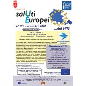 """Newsletter """"SalUti Europei"""" n° 191 – novembre 2018"""