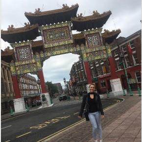 Il quartiere di Chinatown a Liverpool