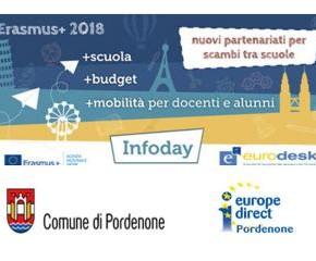 TrainingDay Erasmus+ - Scuola/Istruzione Scolastica, Pordenone 18 gennaio 2019