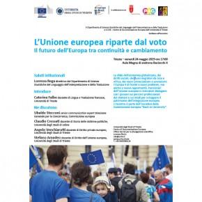L'Unione europea riparte dal voto - 24 maggio incontro a Trieste